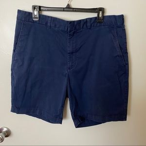Nordstrom Mens Shop Navy Washed Out Chino Shorts